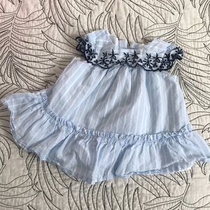 Gap baby girl dress baby blue